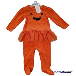 Carter's Infant Jack-O-Lantern One Piece Outfit Size 9 Months NWT